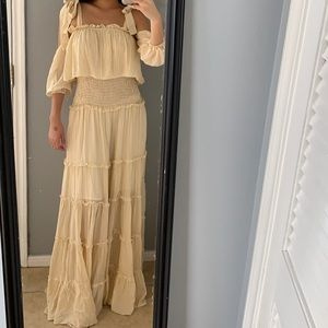 Stripped off the shoulder dress